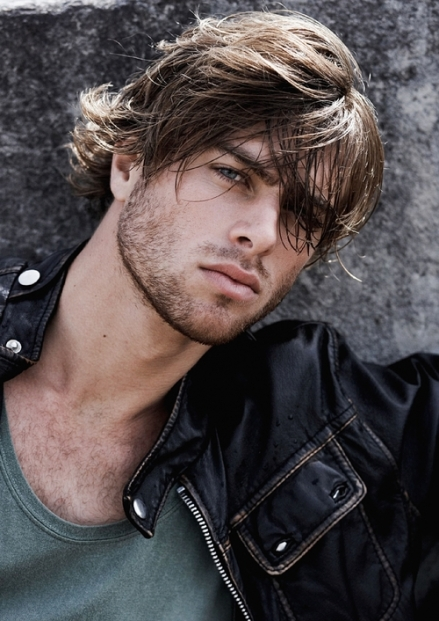 Beaut bloke 691 brown hair blue eyes leather jacket
