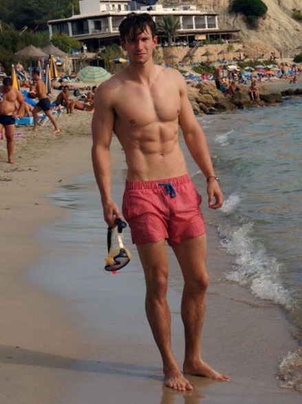 Beaut bloke beach pink swinshorts