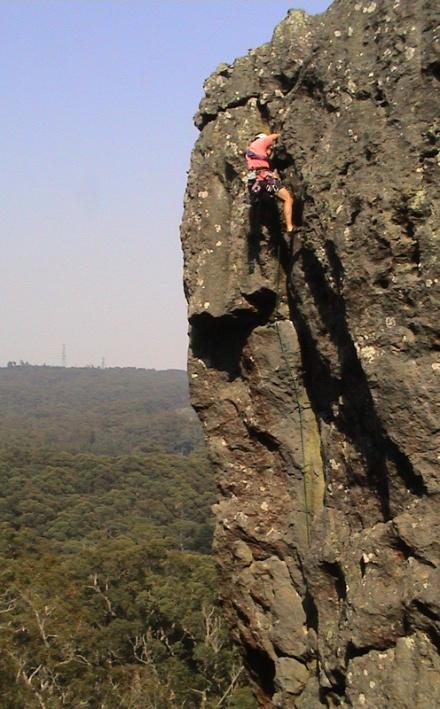 Cliff at Camels Hump Mt Macedon