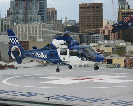 royal melbourne hospital helipad